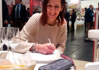 Tiziana al Prowein, durante le visite