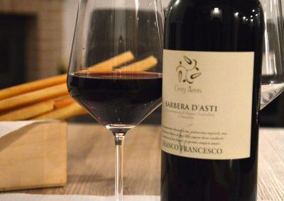 Degustazione vino rosso Franco Francesco