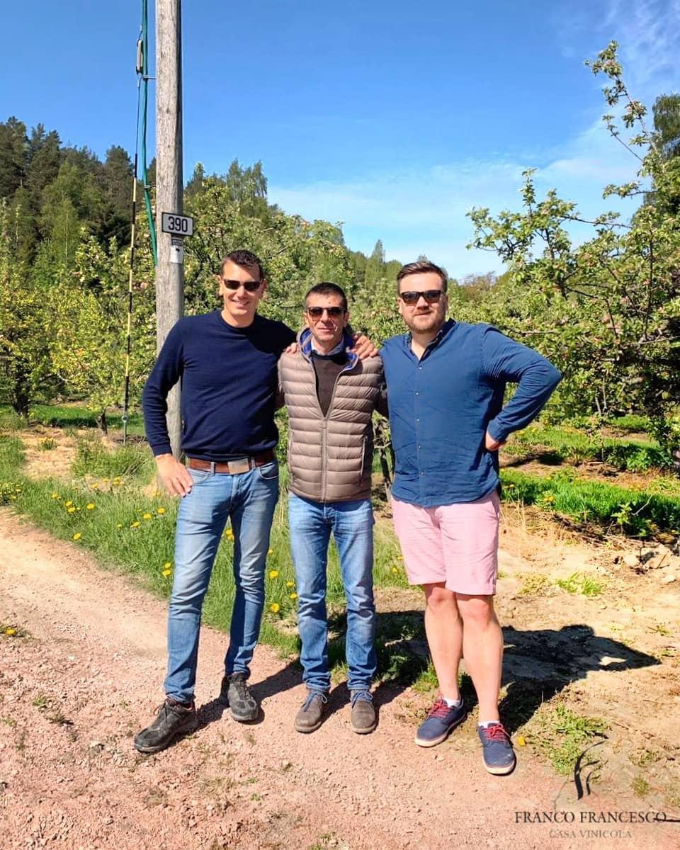 Maurizio Franco con i soci della Structure Wines AS